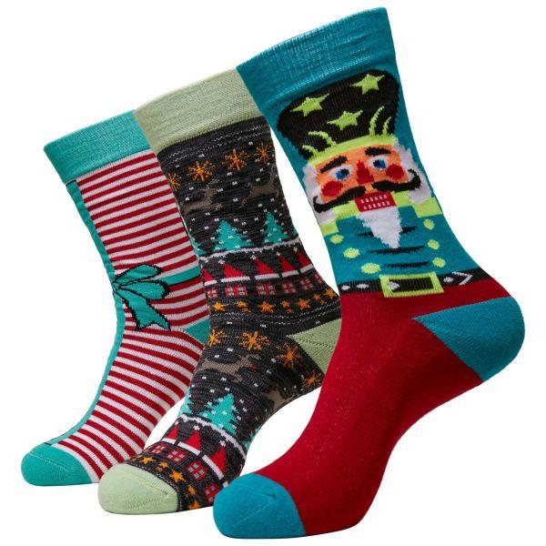 Urban Classics - Christmas Nussknacker Socken 3er Pack