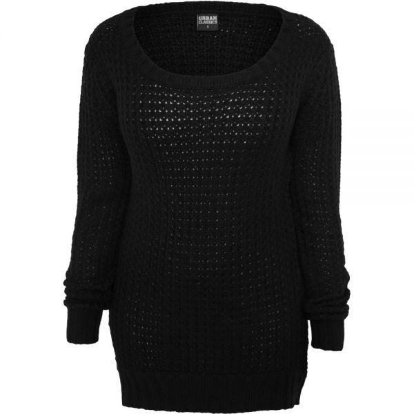 Urban Classics Ladies - LONG WIDENECK Strick Pullover