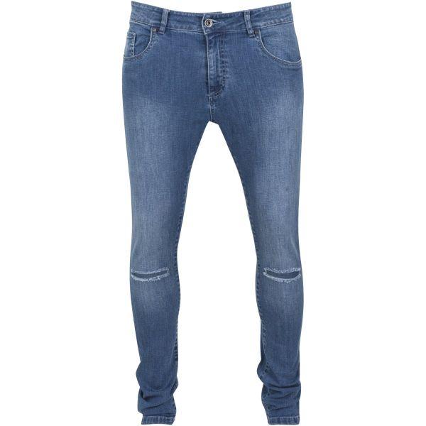 Urban Classics - SLIM FIT Knee Cut Stretch Denim Jeans Hose