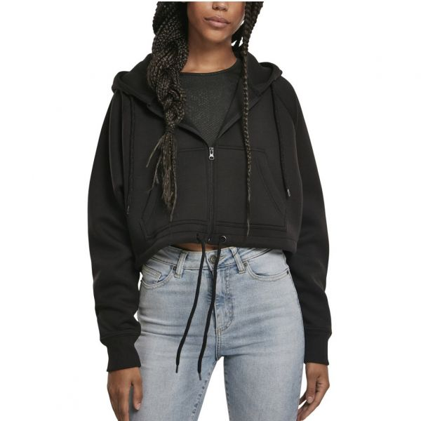Urban Classics Ladies - Oversized Short Raglan Zip Hoody