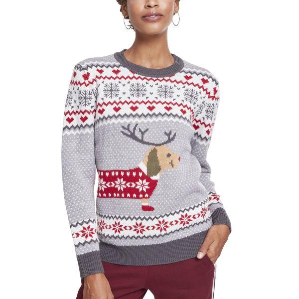 Urban Classics Ladies - Sausage Dog Christmas Sweater