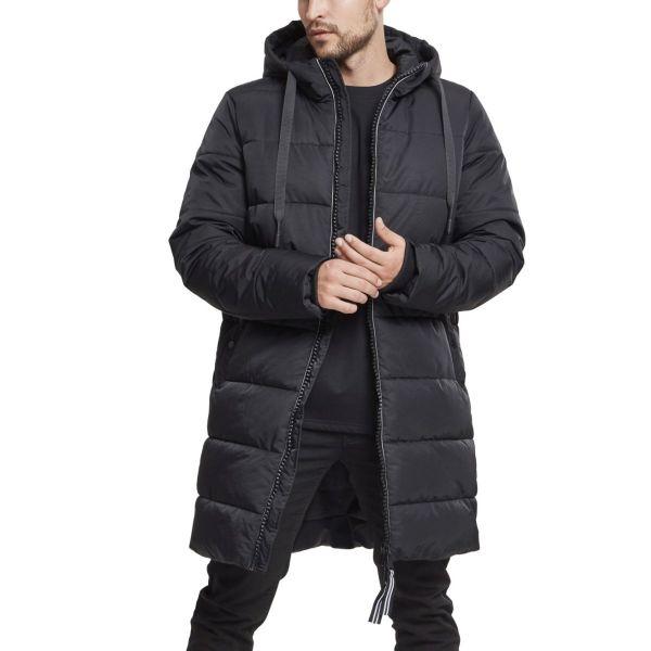 Urban Classics - Hooded Puffer Winter Mantel schwarz
