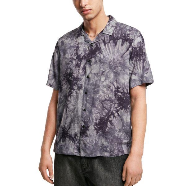Urban Classics - Viscose Resort Shirt Tye Dye Batik Hemd
