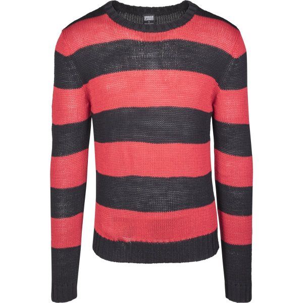 Urban Classics - STRIPED Strick Sweater Pullover