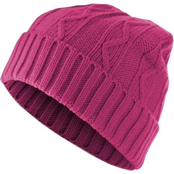 Urban Classics Beanie Bonnet - CABLE FLAP magenta