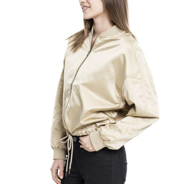 Urban Classics Ladies - Satin Kimono Blouson Oversize Jacke
