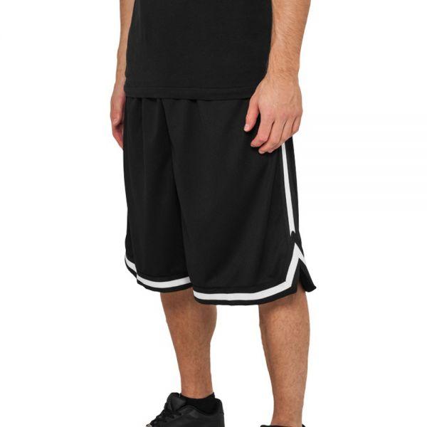 Urban Classics - MESH Shorts noir / rouge - L