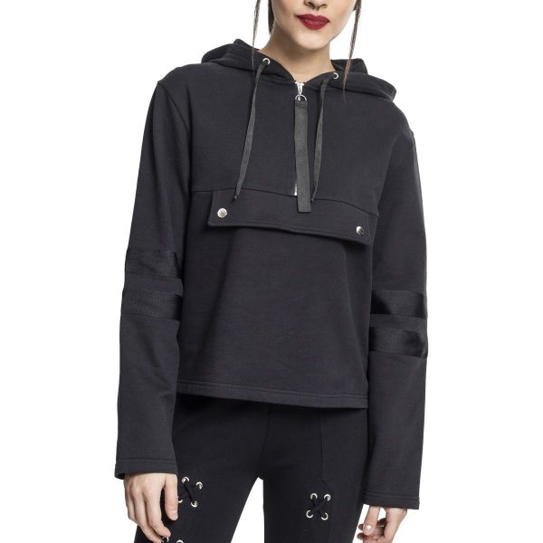 Urban Classics Ladies - Peached Terry Troyer Short Hoody