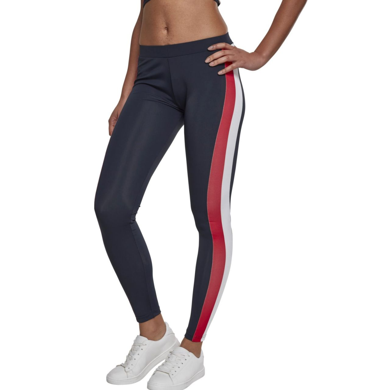 Urban Classics Ladies - SIDE STRIPE Sport Fitness Leggings