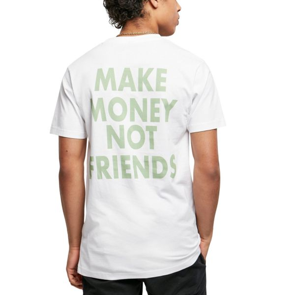 Mister Tee Grafik Shirt - MAKE MONEY NO FRIENDS weiß