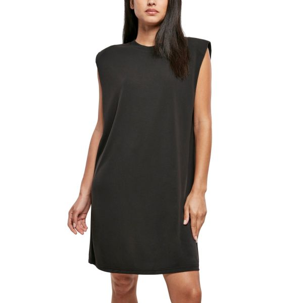 Urban Classics Ladies - Modal Padded Shoulder Kleid schwarz