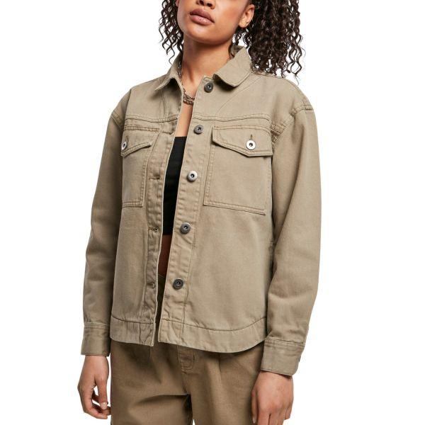 Urban Classics Ladies - Oversized Shirt Denim Jacke