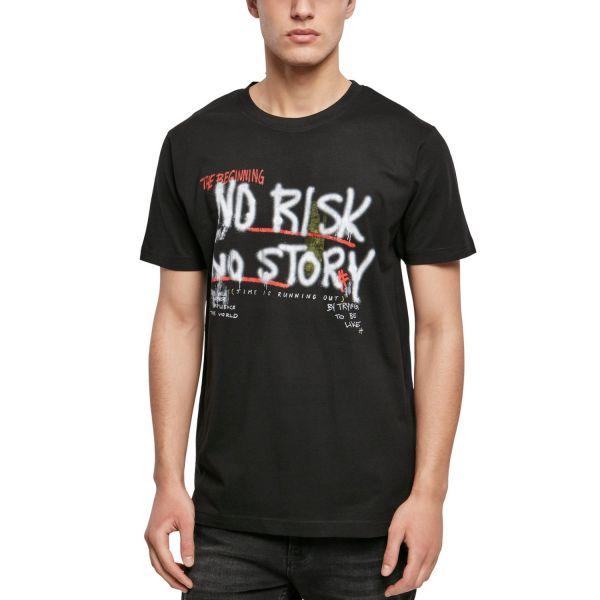 Mister Tee Grafik Shirt - NO RISK NO STORY schwarz