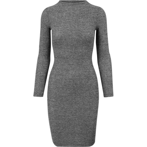 Urban Classics Ladies - RIB JERSEY Strick Kleid Dress