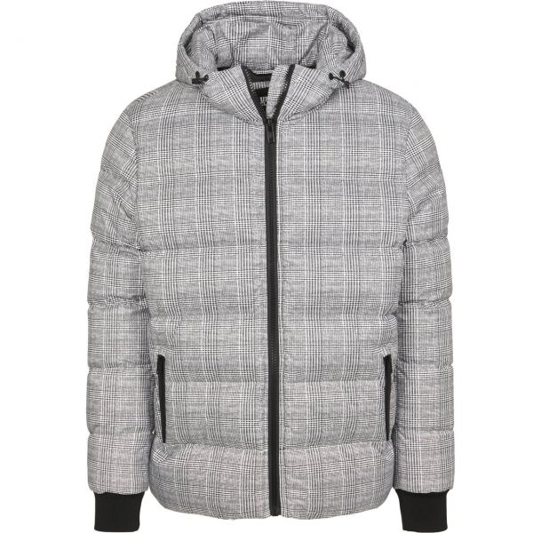 Urban Classics - Hooded Check Puffer Stepp Winterjacke