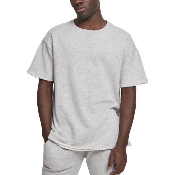 Urban Classics - Herringbone Terr Shirt grau