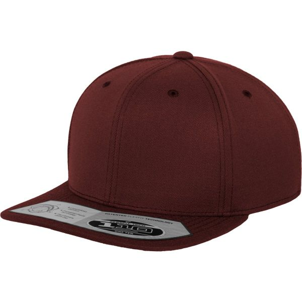 Flexfit 110 Fitted Snapback Cap - white / black