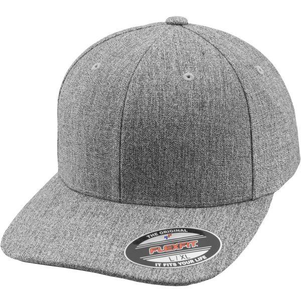 Flexfit PLAIN SPAN Stretchable Curved Cap - heather grau