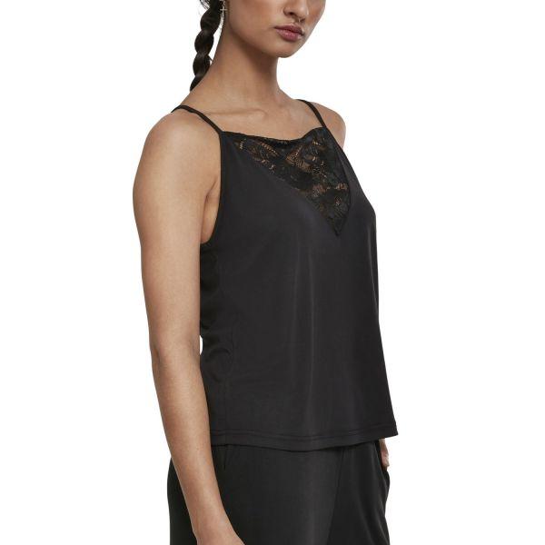 Urban Classics Ladies - Laces Triangle Top schwarz