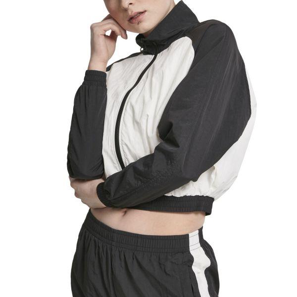 Urban Classics Ladies - CRINKLE Short Raglan Batwing Jacke