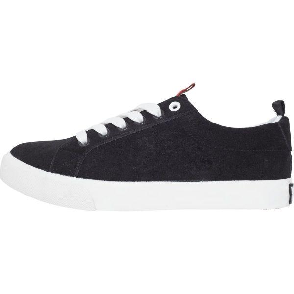 Urban Classics - Velour Stipe Sneaker Schuhe schwarz