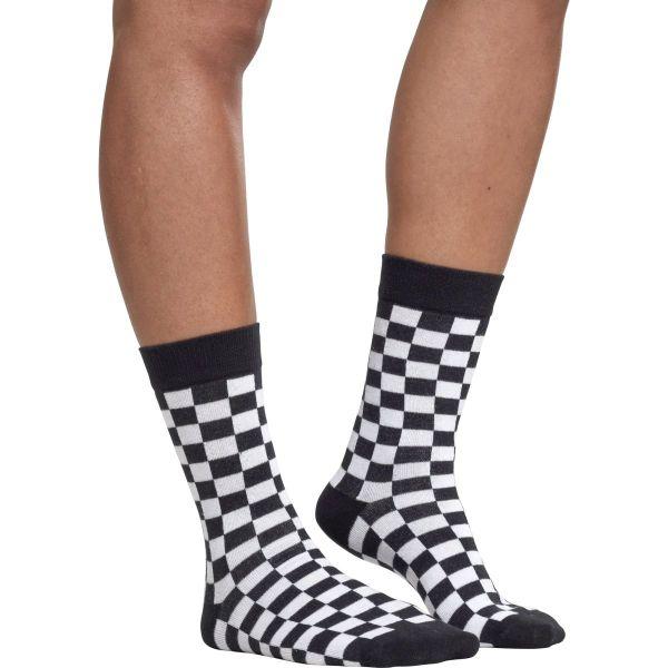 Urban Classics - CHECKER Unisex Socken 2er Pack schwarz