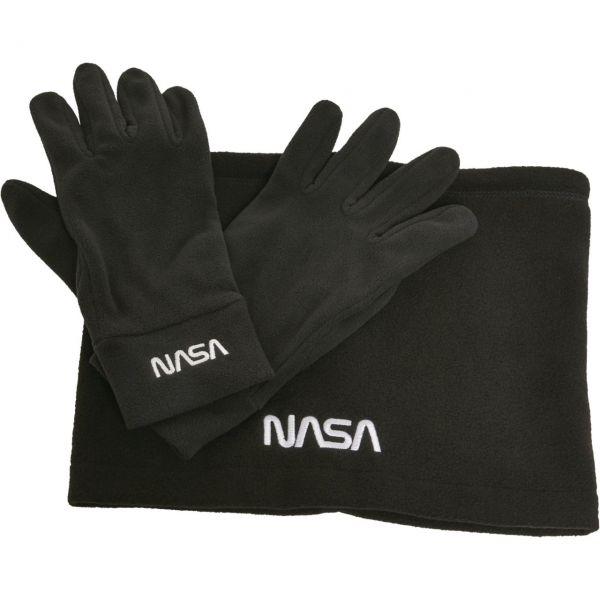 Mister Tee NASA Fleece Set - Handschuhe und Schal