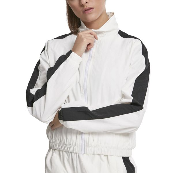 Urban Classics Ladies - CRINKLE Short Track Jacket blanc
