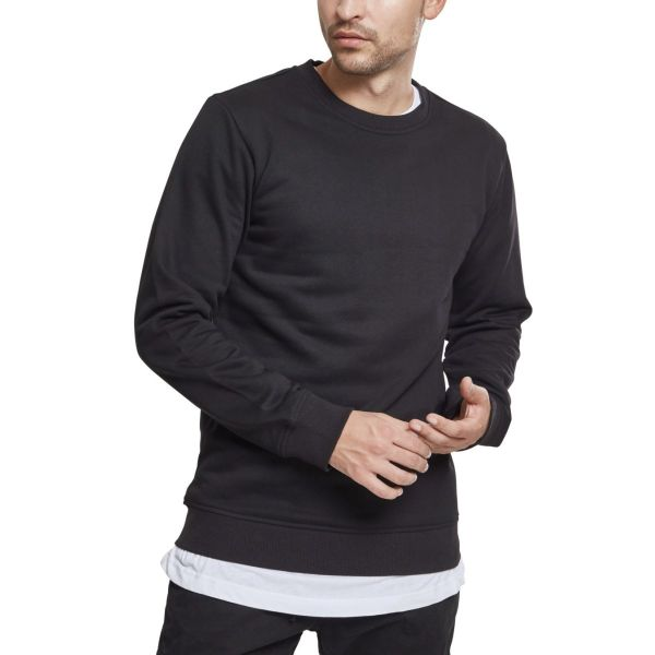 Urban Classics - BASIC Crewneck Terry Pullover charcoal