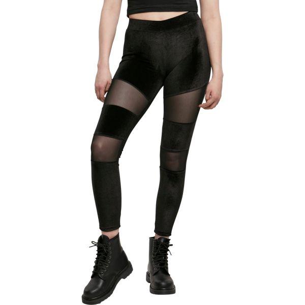 Urban Classics Ladies - Velvet TECH MESH Leggings