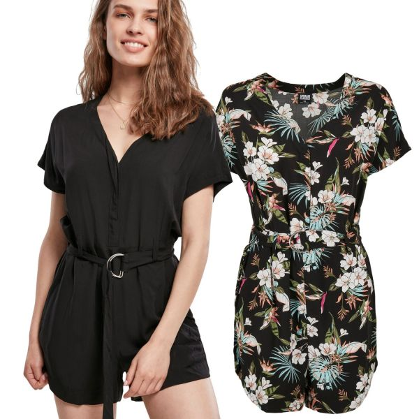 Urban Classics Ladies - Short Jumpsuit mit Gürtel