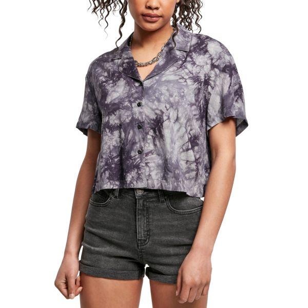 Urban Classics Ladies - Viscose Tie Dye Resort Shirt Hemd