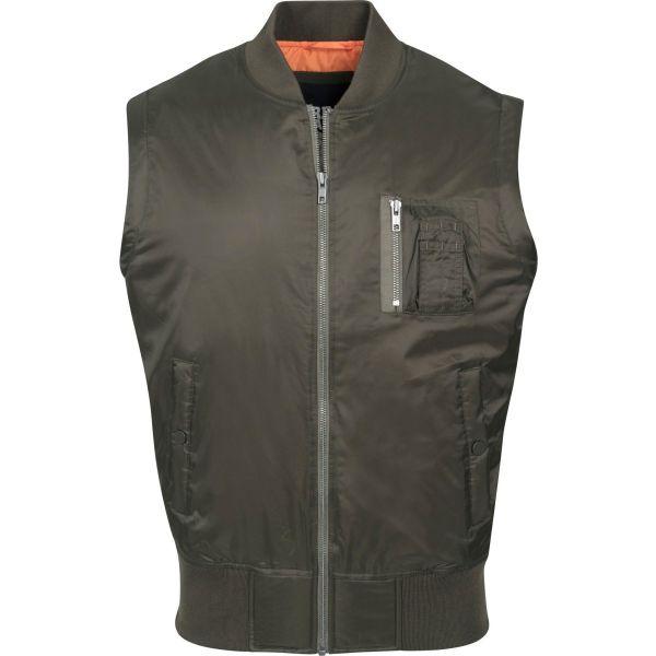 Urban Classics - SHINY BOMBER Vest black