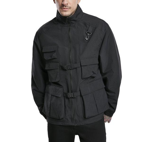 Urban Classics - Multi Pocket Nylon Jacke schwarz