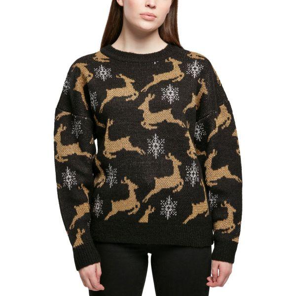 Urban Classics Ladies - Oversized Christmas Sweater