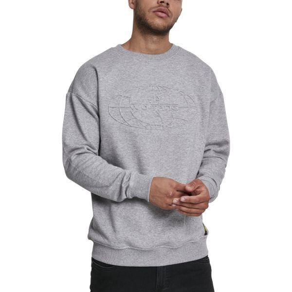 Wu-Wear Hip Hop Pullover - Embossed Crewneck gris