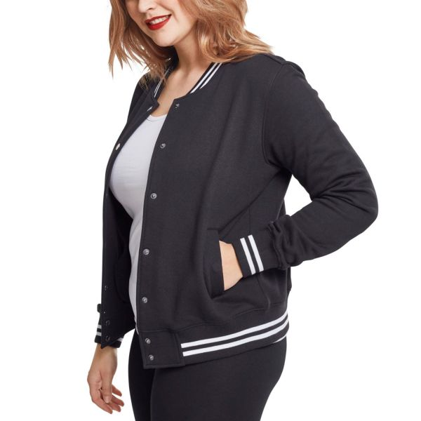 Urban Classics Ladies - College Sweat Jacket black