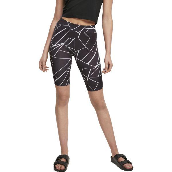 Urban Classics Ladies - CYCLE Tech Mesh Shorts geometric